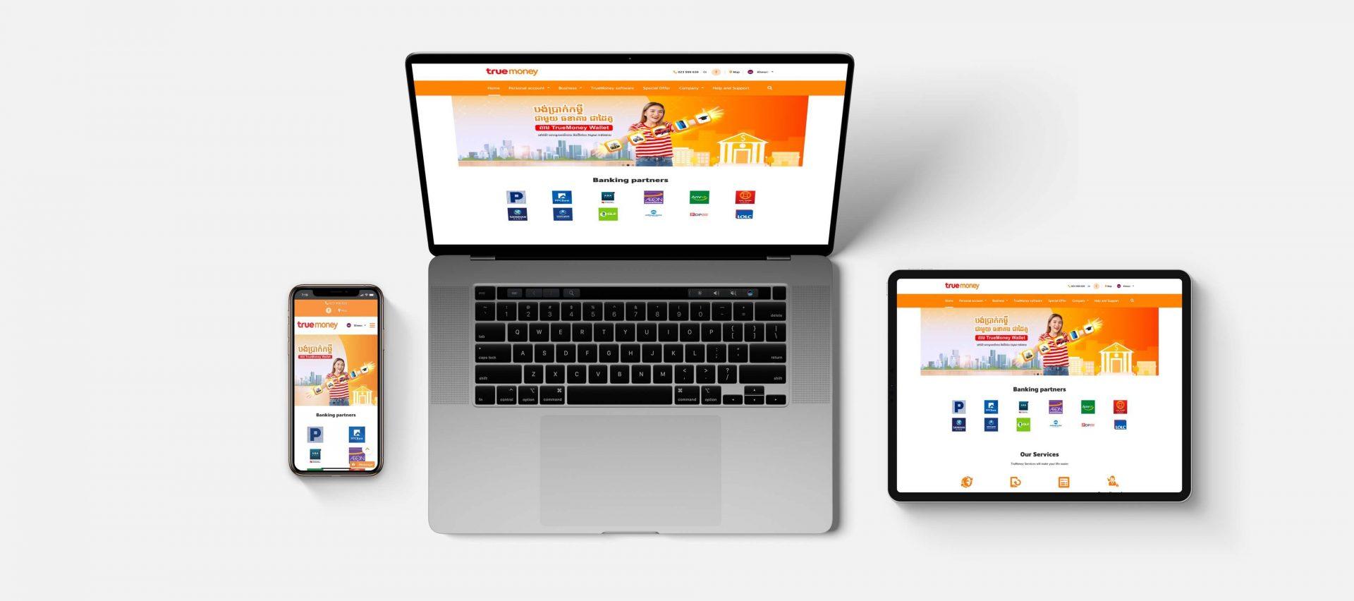 Official website of TrueMoney's Cambodia